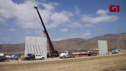 Protótipos do muro prometido por Trump são instalados na fronteira entre EUA e México