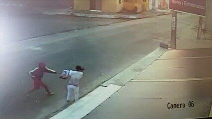 Vídeo mostra homens realizando assalto em São Gonçalo do Amarante