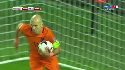 Os gols de Belarus 1 x 3 Holanda pelas Eliminatórias da Copa do Mundo