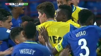 Os gols de Coreia do Norte 0 x 2 Brasil pela 2ª rodada do Mundial sub-17