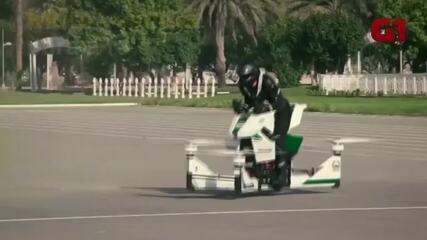 Polícia de Dubai patrulha com nova 'hoverbike'