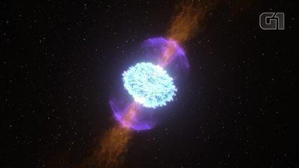 Cientistas 'assistem' pela primeira vez à colisão de um par de estrelas de nêutrons