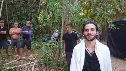 Fiuk e Marcos Pigossi gravam em Três Rios