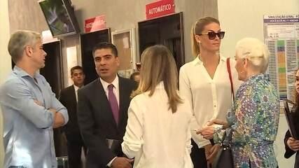 Ana Hickmann presta depoimento em Belo Horizonte sobre atentado em hotel