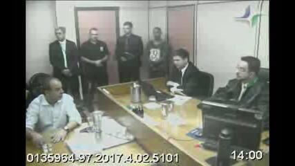 Bretas e Cabral discutem durante depoimento em processo que apura compra de joias