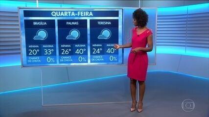Veja a previsão do tempo para quarta-feira (25) no Brasil