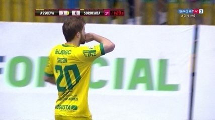 Os gols de Assoeva 2 x 0 Sorocaba pela Liga Nacional de Futsal
