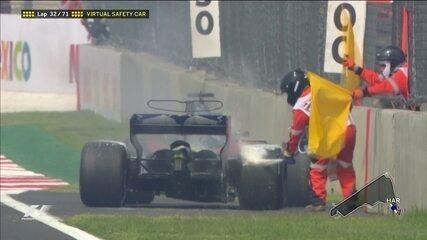 Hartley abandona o GP do México