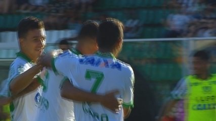 GOL DO AMÉRICA-MG! Giovanni marca contra o Figueirense