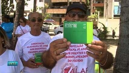 Falta de medicamentos em farmácia pública interrompe tratamento de transplantados em AL