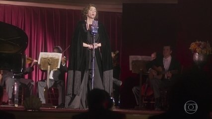 Hermínia canta no recital