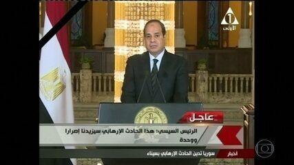 Presidente do Egito decreta luto após ataque e prometa 'resposta brutal'