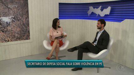 Secretário de Defesa Social de PE, Antônio de Pádua, fala sobre Caso Beatriz