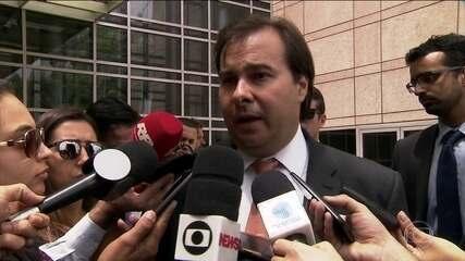 Reforma da Previdência é assunto das conversas do presidente da Câmara Rodrigo Maia