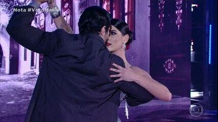 Maria Joana é aplaudida de pé dançando o tango