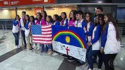 Alunos da rede estadual de ensino de Pernambuco embarcam para intercâmbio nos EUA