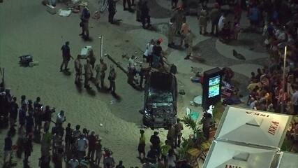 Imagens mostram resgate de vítimas após atropelamento em Copacabana