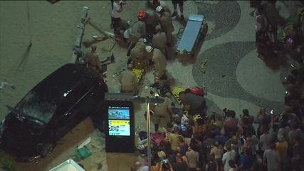 Turista argentina relata momento de atropelamento nas areias de Copacabana