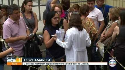 Duas pessoas morrem depois de tomar vacina contra febre amarela na Capital