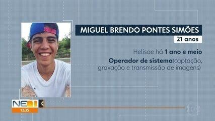 Operador de sistemas Miguel Brendo ficou gravemente ferido na queda do Globocop
