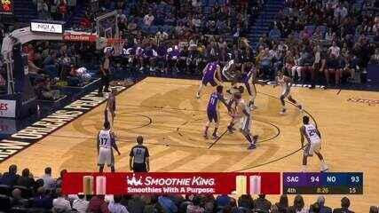 Melhores momentos: Kings 114 x 103 Pelicans pela NBA
