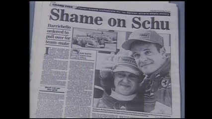 Em 2002, Rubinho recebe ordem da Ferrari para deixar Schumacher passar