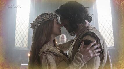 Resumo de 06/02: Afonso se casa com Amália e Rodolfo com Lucrécia