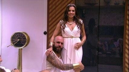 Caruso elogia Paula e brinca: 'A gente já pode casar'