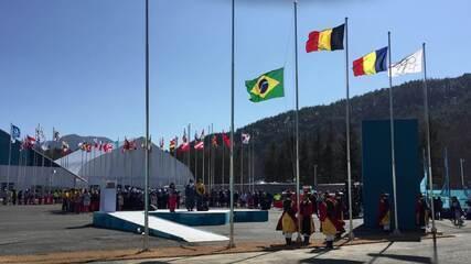 Brasil recebe as boas-vindas na Vila Olímpica de PyeongChang