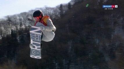 Com apenas 17 anos, Redmond Gerard faz ótima apresentação no snowboard e assume liderança