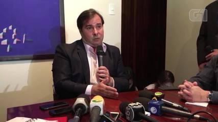 Maia afirma que decreto de intervenção torna 'dicífil' votar Previdência na semana que vem