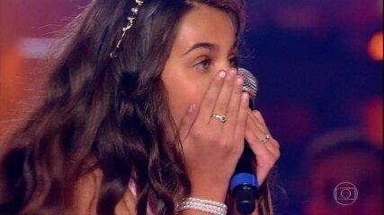 Poliana Guaratuba, Ranna Andrade e Sabrina Santos cantam 'Deixo', no The Voice Kids