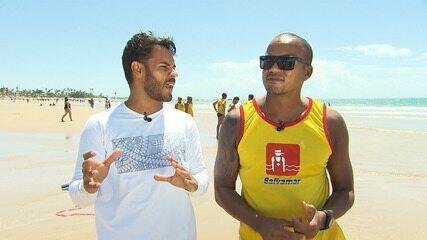 Pablo Vasconcelos confere um dia de treinamento dos salva-vidas