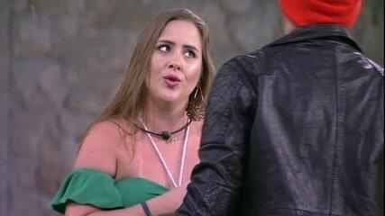 Patrícia elogia Caruso: 'Você tem esse jeito de bad boy, mas tem um coração tão grande