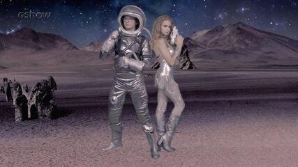 Clara e Juca gravam clipe espacial para a feira do Cora