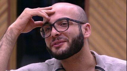 Mahmoud e Gleici falam sobre Paredão: 'Vamos estar juntos dando força um ao outro'