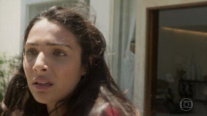 Reveja a cena em que Pérola vê o pai sendo preso