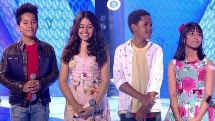 Eduarda Brasil e Augusto Michel seguem para a próxima fase do The Voice Kids