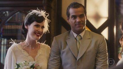 Edgar e Carolina se casam
