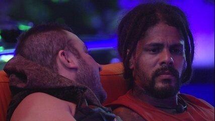 Diego afirma para Viegas que já pensou em desistir do jogo