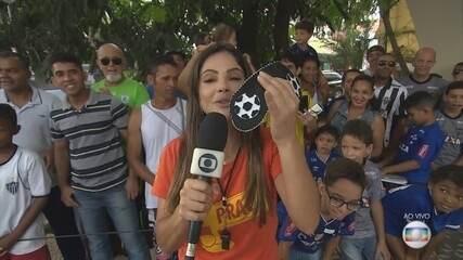 GE na Praça: Carina Pereira convida moradores de Ribeirao das Neves para um desafio