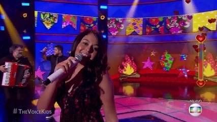 Eduarda Brasil canta 'Isso Aqui tá Bom Demais' no terceiro dia de Shows ao vivo