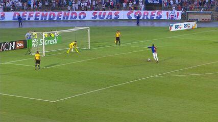 Melhores momentos e pênaltis de Paraná 1 (2) x 1 (4) Londrina, pela semi da Taça Caio Jr