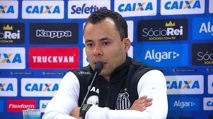 "Jair Ventura fala sobre a eliminação do Santos: ""Bateu na trave"""