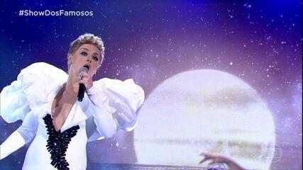 Alessandra Maestrini estreia no 'Show dos Famosos' como Céline Dion
