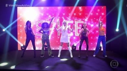 As Spice Girls do Vídeo Show cantam 'Say You'll Be There'