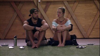 Jéssica lamenta Paredão com Kaysar e diz: 'Queria ir contigo até o Final'