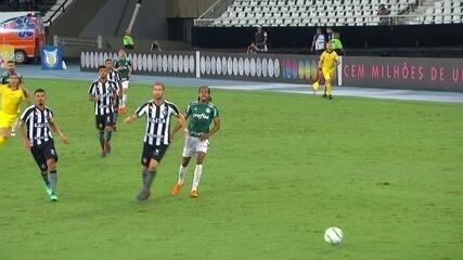 Os gols de Botafogo 1 x 1 Palmeiras pela 1ª rodada do Campeonato Brasileiro