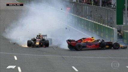 Verstappen e Ricciardo batem e abandonam o GP do Azerbaijão