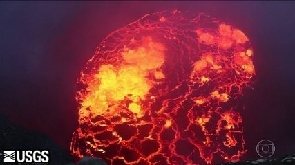 Vulcão Kilauea visto por dentro